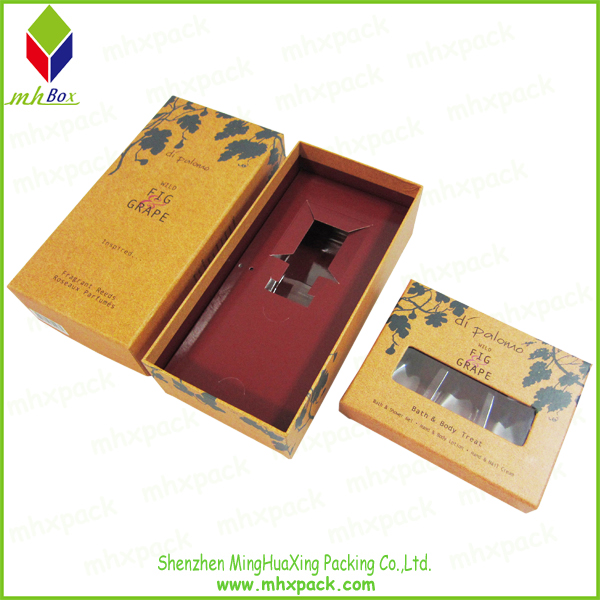 cosmetic paper gift box with window