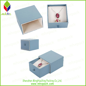 Delicate Slide Packaging Paper Jewelry Box for Necklace