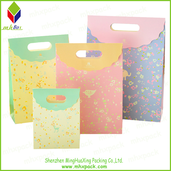 Paper Shopping Fashion Bag with Hole Handle