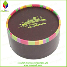 Delicate Printing Paper Gift Packaging Round Box