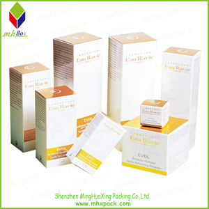 Gold Foil Paper Cosmetic Packaging Cardboard Box