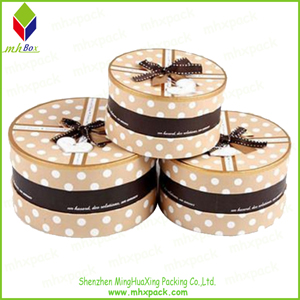 Rigid Round Paper Gift Packaging Box