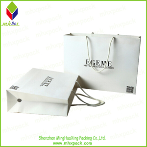 Promotion White Packing Paper Travel Bag