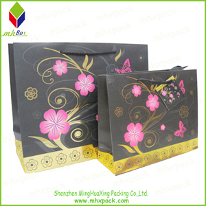 Flower Printing Packaging Paper Bag for Gift