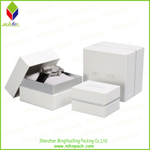 White Packing Paper Gift Jewelry Box for Watch