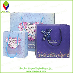 Purple Printing Shopping Paper Bag