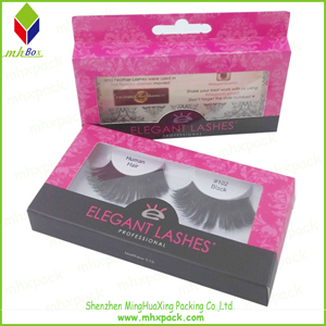 Cardboard Packing Paper Eyelash Box with Handle
