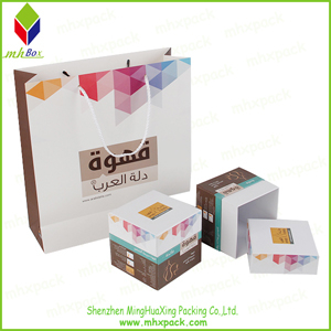 set Cosmetic Packaging Paper Gift Shopping Bag