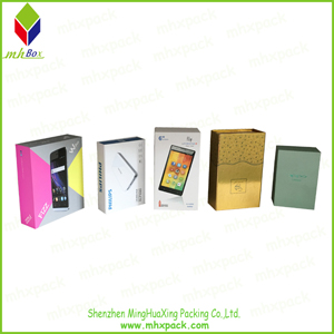 White Carddboard Paper Mobile Phone Packaging Box