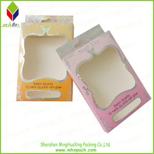 Cardboard Nail Cosmetic Packaging box with Glitter